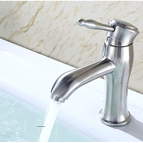 XFSE Moda de acero inoxidable sin plomo caliente y fría agua lavabo grifo llave tipo bajo encimera lavabo grifo