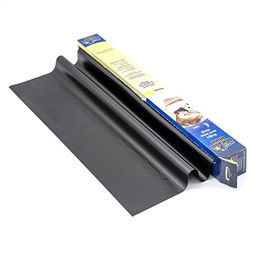 Magic Whiteboard Products Static Cling Dry Erase Sheet Home Office Bedroom BLACKOUT BLIND 100% 23.5' x 31.5' 10 Perforated Sheets BLACK (MW4110)
