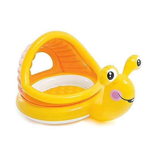 KOIUJ Caracol Piscina del bebé, de los niños Piscina Inflable, Parasol Ronda Piscina for niños, bebés de hidromasaje, Marina Ball Pool