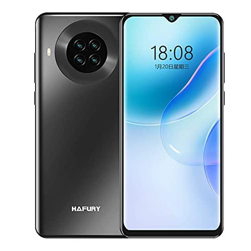 HAFURY K30 Smartphone ohne Vertrag, Günstig 4G 6,5 Zoll Handy, 64GB ROM 4200mAh Akku, 20MP Quad Kamera, NFC Face ID, Schwarz