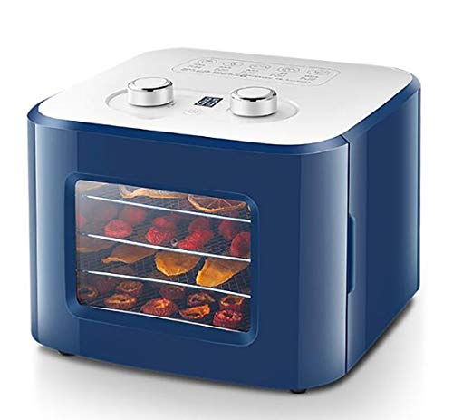 Best Prices! Food Dehydrator,household food air dryer,small pet snack vegetable and fruit dryer,visual tempered glass,user-friendly automatic cooling function,4-layer movable drawer grid,8L