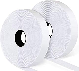 16.5Ft x 1 Inch Self Adhesive Hook Loop Strips, Heavy Duty Strong Back Sticky Fastening Tape,Nylon Fabric Fastener Mountin...