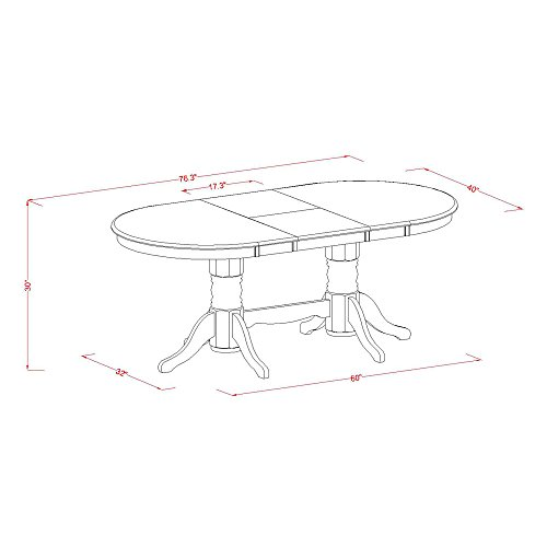 9 PC Dining room set for 8 Dining Table with Leaf and 8 Kitchen Dining Chairs