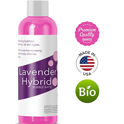 Relaxing Bubble Bath for Sleep – Pure Lavender Essential Oil and Aloe Vera – Aromatherapy Bath Soak for Dry Skin and Sore Muscles – Hypoallergenic Natural Skin Care for Men Women with Sensitive Skin