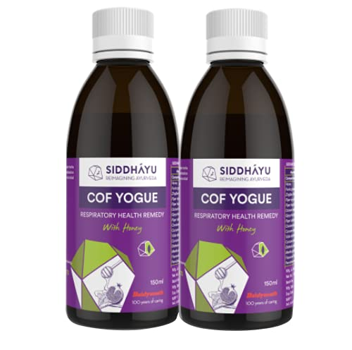 Siddhayu Cof Yogue I Ayurvedic Cough Syrup For Dry Cough I For Adults I 150 ML I Pack of 2