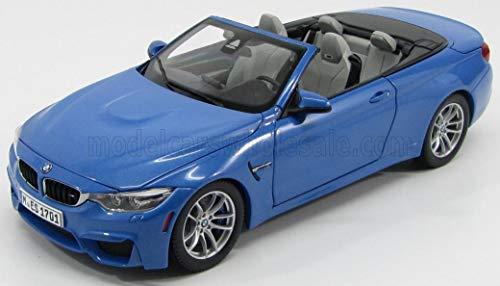 BMW M4 Convertible, metallic-blau, 2015, Modellauto, Fertigmodell, I-Paragon 1:18