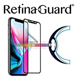 retinaguard anti-blueライト強化ガラススクリーンプロテクターfor iPhone X–SGS & Intertekテスト–ブロック過剰な有害なブルーライト低減、眼精疲労と(ブラック枠