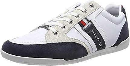 Tommy Hilfiger Corporate Material Mix Cupsole, Zapatillas para Hombre, Blanco/Azul (Rwb 020) - 45 EU