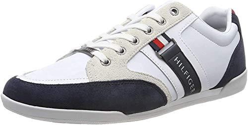 Tommy Hilfiger Herren Corporate Material Mix Cupsole Sneaker, Rot (RWB 020), 44 EU