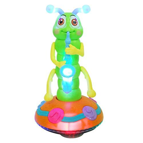 Tomaibaby Tier Musik Spielzeug Elektrisches Leuchten Raupe Saxophon Interaktives Spielzeug Kinder...