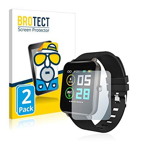 BROTECT 2X Entspiegelungs-Schutzfolie kompatibel mit Zagzog Fitness Tracker Z 1.54