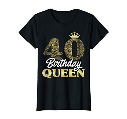 Damen 40. Geburtstag Geschenk Jahrgang 1981 Birthday Queen Krone T-Shirt