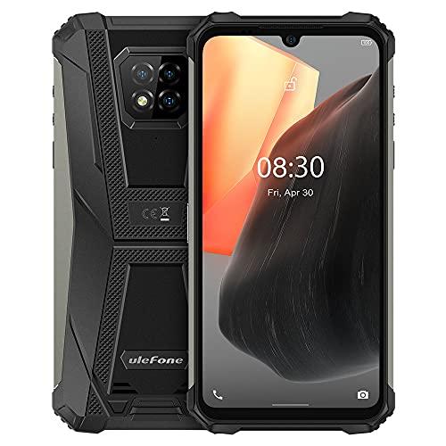 Ulefone Armor 8 Pro Android 11 Outdoor Smartphone ohne Vertrag, 6,1'' HD+ IP68 Wasserdichtes Robust Handy, Helio P60 6GB+128GB, 16MP Quad-Kamera, NFC GPS, Gesichtsentsperrung Fingerabdruck Schwarz