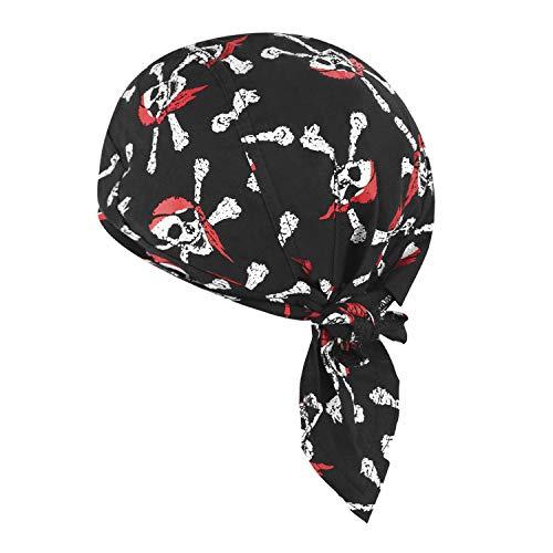 Afinder Unisex Bandana Cap Sport Kopftuch Modische Skelette Kopfband Biker Hat Baumwolle Piratentuch UV Schutz Schnelltrocknend für Biking Fahrrad Motorrad Radsport