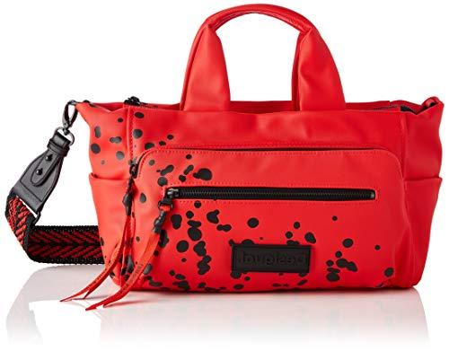 Desigual PU Hand Bag, Borsa a Mano. Donna, Colore: Rosso, U