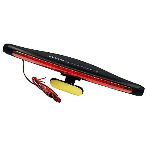QIQIDIAN Universal Red Zusätzliche Bremslichtleiste 28SMD 12V Auto Hochmontierte Bremsleuchte Auto Truck Tail Dritte Standleuchte,Rot