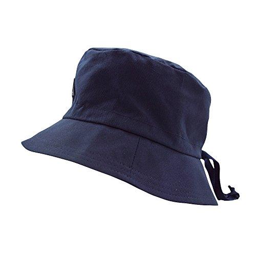 PICKAPOOH Fischerhut mit UV-Schutz Baumwolle, Marine Gr. 52