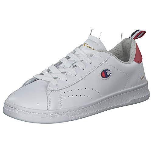 Champion Herren Low Cut Court Club Patch Sportschuhe Laufschuhe Freizeitschuhe Weiß versch. Größen S21363-WW002 Weiß (White) 40 EU