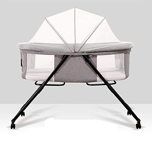 Lowest Price! Crib Foldable Crib Portable Baby Bed Multi-Function Newborn Cradle Bed Removable and W...