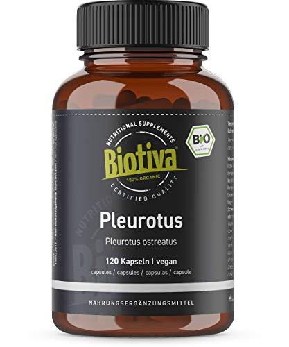 Pleurotus ostreatus Bio Kapseln - 120 Kapseln a 450 mg - Austern-Seitling - Austernpilze - vegan - Abgefüllt und Kontrolliert in Deutschland (DE-ÖKO-005)