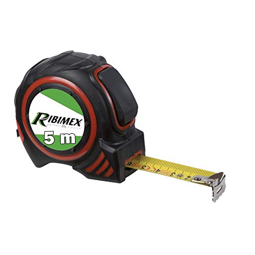 RIBIMEX PRMES05X19 Flessometro Autobloccante 5 m, Metro da tasca