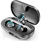PeohZarr Wireless Earbuds Bluetooth Earbuds with 2600mAh Charging Case Wireless Earbuds Bluetooth 5.0 IPX8 Waterproof Auto Pairing Deep Bass Stereo Sound Noise Reduction Touch Control Earphones