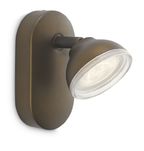 Philips myLiving Toscane - Foco de pared, LED, 1 luz, iluminación interior, luz blanca cálida,...