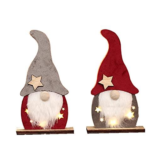 Decorazione Ornamenti Di Natività In Legno Nuovo Luminosi Decorazione Cappello Babbo Natale Decorativo In Legno Natale Senza Volto Vecchio Ornamenti Luminosi Per Appese Decorazioni Natalizie Appese