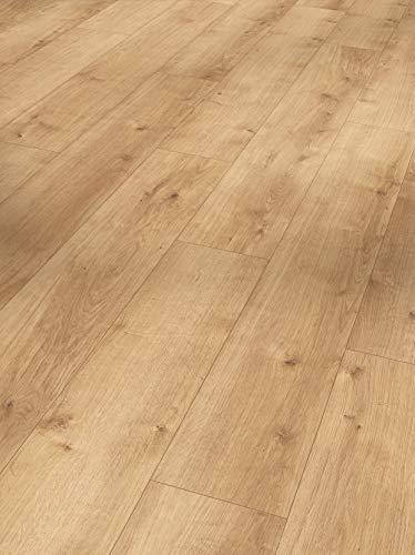 Parador Modular One - Bodenbelag Eiche Pure Natur - Elastischer Bodenbelag in Holz-Optik, schallgedämmt, mit Klick-Verlegung - ohne Weichmacher - 1285 x 194 x 8 mm