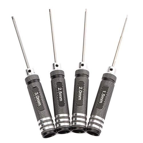 Enzege Destornillador Hexagonal Profesionales, Llave Hexagonal Conductor 4 PC/Juego de Piezas de 1,5 mm / 2 mm / 2,5 mm / 3,0 mm