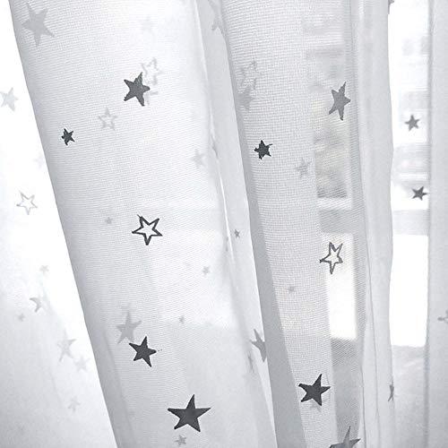 Rideaux en tissu pour enfants brillants pour le salon Kids Garçon Fille Chambre Bleu / Rose Blackout Cortinas Custom Made Drapé wp123-45, Couleur 1 Tulle, 1 PC W200 x H260cm, Haut à œillets (Anneau)