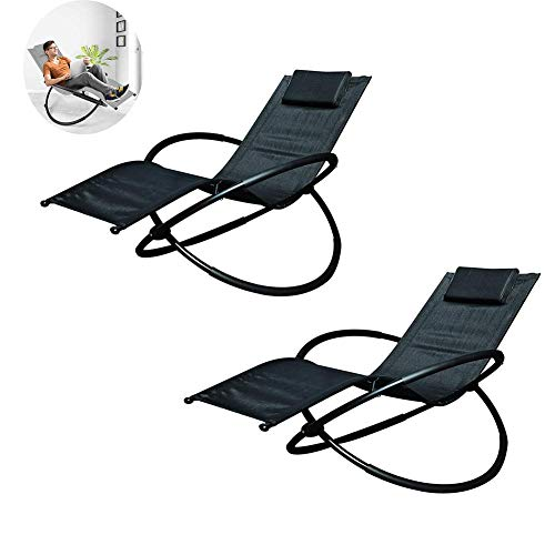 Dalovy Gartenliege Sonnenliege, Gartenmöbel - Tragbare Gartenterrasse für Reisen Urlaub Indoor Outdoor 2Er-Set
