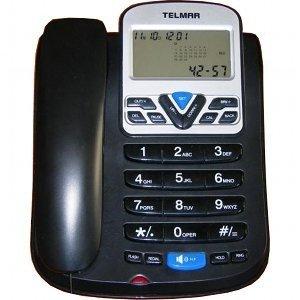 Teléfono fijo Magnum Big pantalla función Calculadora y manos libres grandes teclas color negro