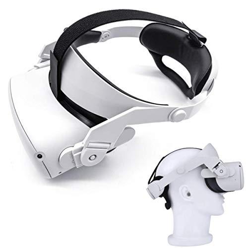 Oculus Quest 2 eliteストラップ バッテリー、調整可能なOculusQuest 2 ストラップ、VRヘッドバンド-フォームクッションヘッドバンドは、重力のバランスを取り、頭の圧迫を緩和し、サポートと快適さを向上させます【2021新型】