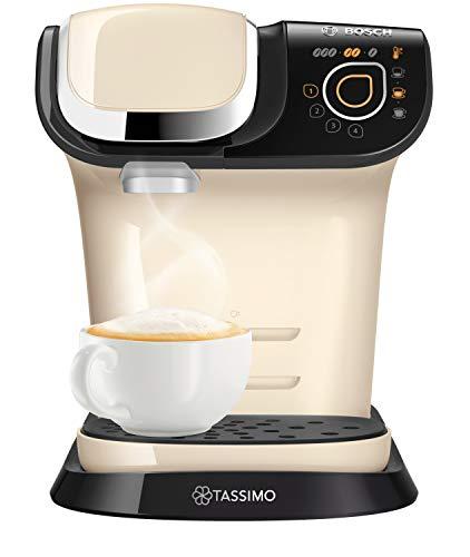 TASSIMO Bosch My Way 2 TAS6507GB Coffee Machine, 1500 Watt, 1.3 Litre - Cream