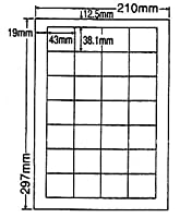 LDW28Q-10 OAラベル ナナワード (43×38.1mm 28面付け A4判) 10梱(レーザー、インクジェットプリンタ用。上質紙ラベル)マルチタイプ