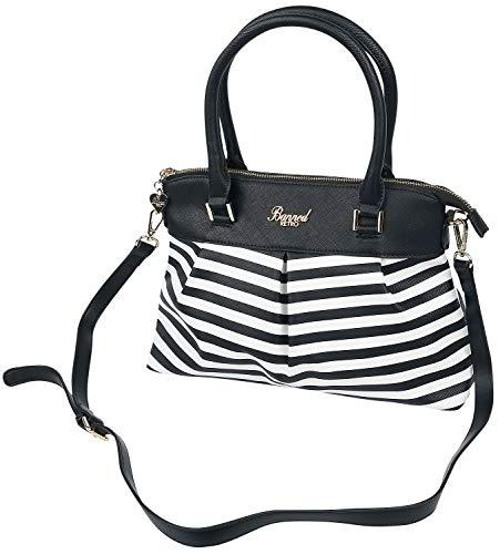 Banned Retro Living Bay Frauen Handtasche schwarz/weiß