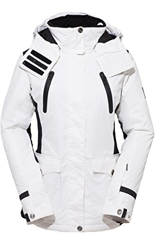 HSW Women Ski Jacket Girl Winter Coat Outdoor Jacket for Women Ladies Winter Jacket Waterproof White