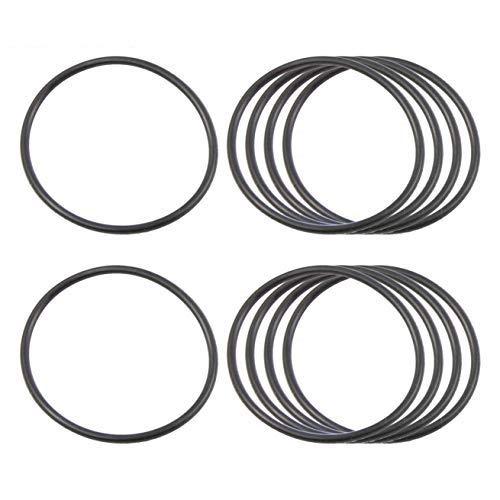 PRINDIY 10 Unidades de Anillos de Sellado 36 mm x 40 mm x 2 mm O-Ring Ojales de Caucho de nitrilo Negro