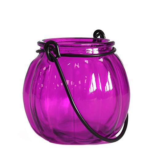 Linterna de calabaza en cristal reciclado–Viola