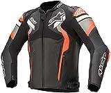 Alpinestars Atem V4 Veste en cuir de moto Noir/Gris/Rouge