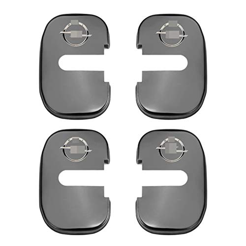 NsbsXs Funda para cerraduras,For Opel Insignia Astra GTC Emblem 4pcs Car Accessories Stainless Steel Car Door Lock Cover