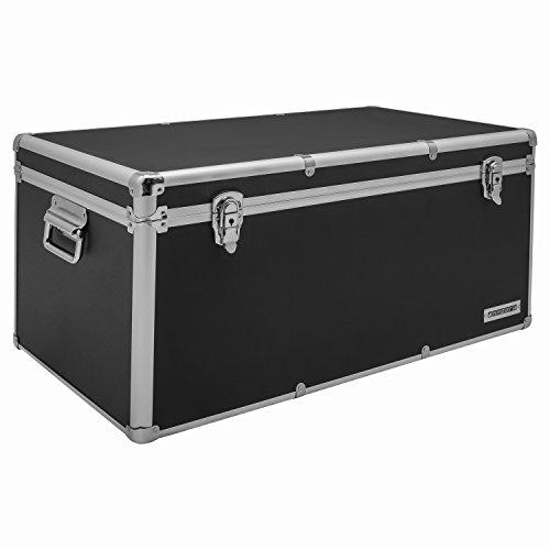 Aluminium-Rahmenkoffer Transport-Box, Koffer in Schwarz mit 82 Liter Volumen
