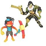 Fortnite 2 Figuras de la colección Battle Royale Blackheart y Fishstick