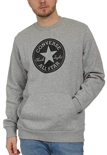 Converse Chuck Patch Graphic Crew Sweatshirt, Herren, Grau (Vintage Grey Heather)