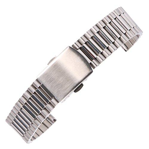 cinturino vigilanza di affari 18 millimetri splendida in argento per gli...