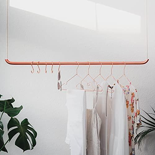 rod & knot Perchero de diseño de cuerda de cobre y algodón - 27.5 pulgadas