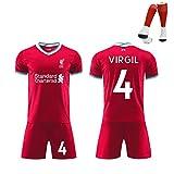 Le ultime magliette da calcio per uomo del Liverpool Liverpool, magliette, pantaloncini, squadra del club, le divise da calcio della squadra campione unisex di Reds, per essere i migliori fan-No.4-XXL
