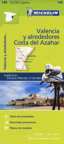 Michelin Costa del Azahar, Valencia y alreddores: Straßen- und Tourismuskarte 1:150.000 (MICHELIN Zoomkarten)