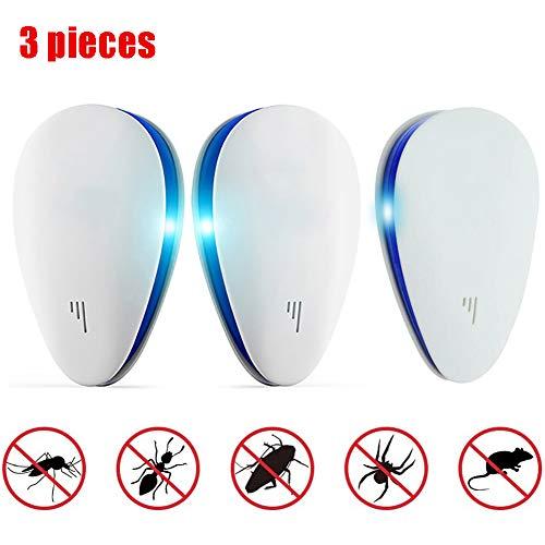 ZHANGLE Pest Repeller, 5W Plug-In Insektenschutzmittel, Efficient Repellent, für Ratten, Spinnen, Mäuse, Ameisen, Kakerlaken, Bettwanzen und andere Nagetiere 3-teilig